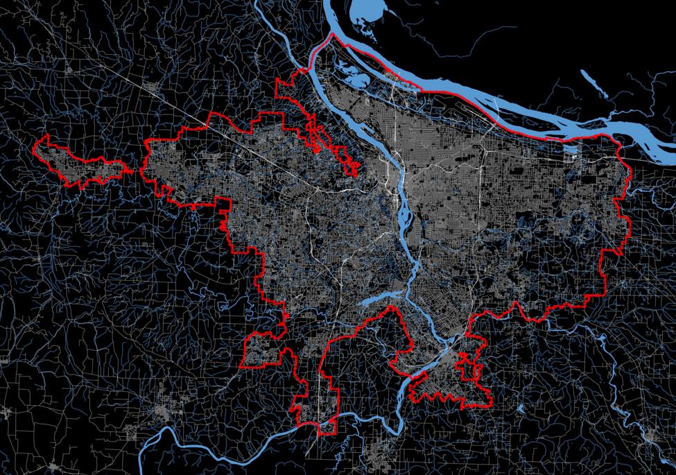 Bursting Portlands Urban Growth Boundary Wont Make Housing More - Urban grown us map
