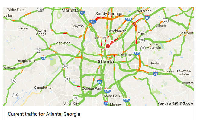 Atlanta Map Traffic.Carmaggedon Stalks Atlanta City Observatory